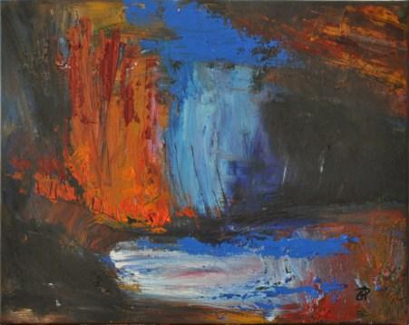 Notturno, Acrilico su tela, cm.40x50, 2015 ■