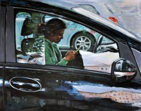 ON THE ROAD NETWORK, Acrilico su tela, cm.80x100, 2014