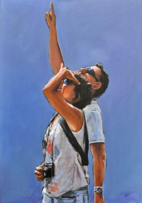 PROFONDO SOSPESO, Acrylic on canvas, cm.100x70, 2012