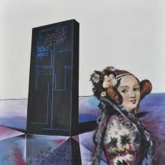 RITORNO AL FUTURO - ADA LOVELAC, Acrylic on canvas, cm.80x80, 2016