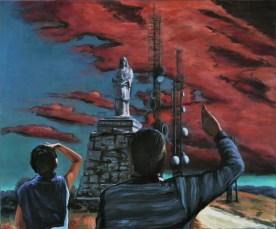 SENZA TITOLO - SUL MONTE EVANGELO, Acrylic on canvas, cm.100x120, 2013