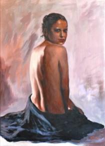 SU ROSA, Acrylic on canvas, cm.70×50, 2011