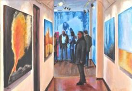 VIAGGIANDO NEL VIAGGIO, Acrilico su tela, cm.100x70, 2011