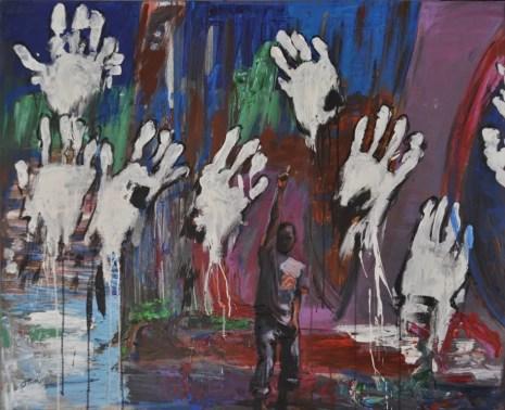 APPARTENENZA, Acrilico su tela, cm.100x120, 2016
