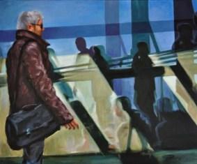 ARRIVI E PARTENZE, Acrilico su tela, cm.50x60, 2011