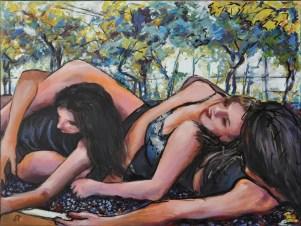 BACCANTI, Acrilico su tela, cm.60x80, 2015