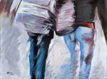 LUI E LEI, crylic on canvas, cm. 60x80, 2010