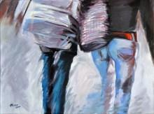 LUI E LEI, Acrilico su tela, cm. 60x80, 2010