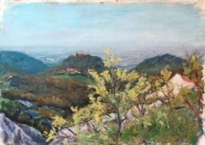 Bianello, Olio su carta a mano, cm.36×51, 2008 ■