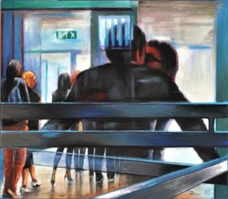 GATE A18, Acrylic on canvas, cm.70x80, 2012