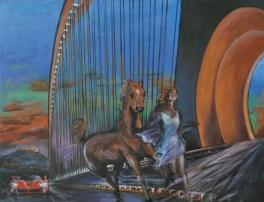 Nell'alta selva fiera tanto girò (l'Orlando furioso), Acrylic on canvas, cm80x100 2015