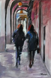VERSO IL CENTRO, Acrylic on canvas, cm.60x40, 2011 ■