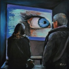 EYES, Acrylic on canvas, Cm.30x30, 2019