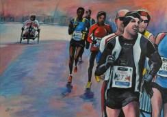 Marathon, Acrylic on canvas, cm.100x70, 2019