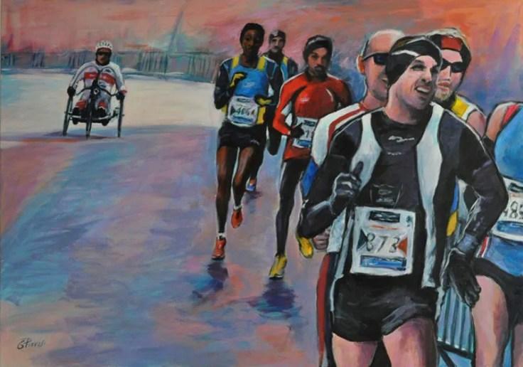 Marathon, Acrilico su tela, cm.100x70, 2019