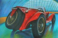 Alfa Romeo 8C 2300 SC 1932 (rear), Acrylic on canvas Cm.80x120, 2019