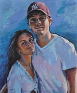 FLORINDA E MATTEO, Acrylic on canvas cm.60x50, 2019 ■