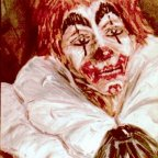 CLOWN N. 1, Oil on canvas, cm 80X60,1974 ■