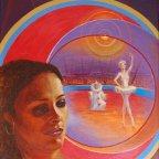 IL CIRCO, LUCI E OMBRA, Oil on canvas, cm 100×70, 1981 ■
