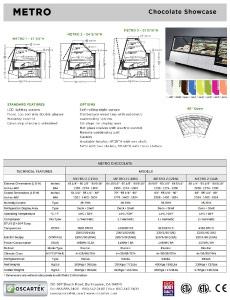 Oscartek Metro: Display Case Configuration Spec Sheets