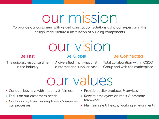 Mission Vision & Values OSCO Construction Group