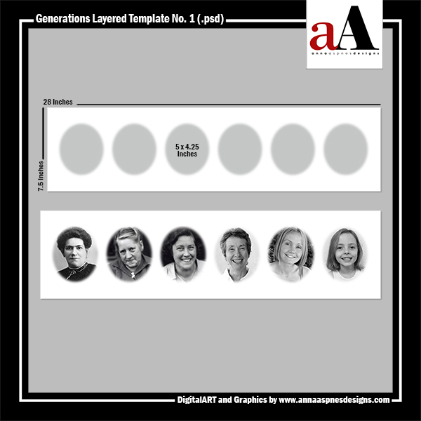 generations layered template by anna aspnes