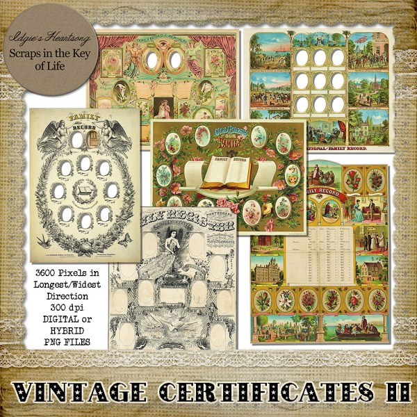 vintage certificates by Idgie's heartsong