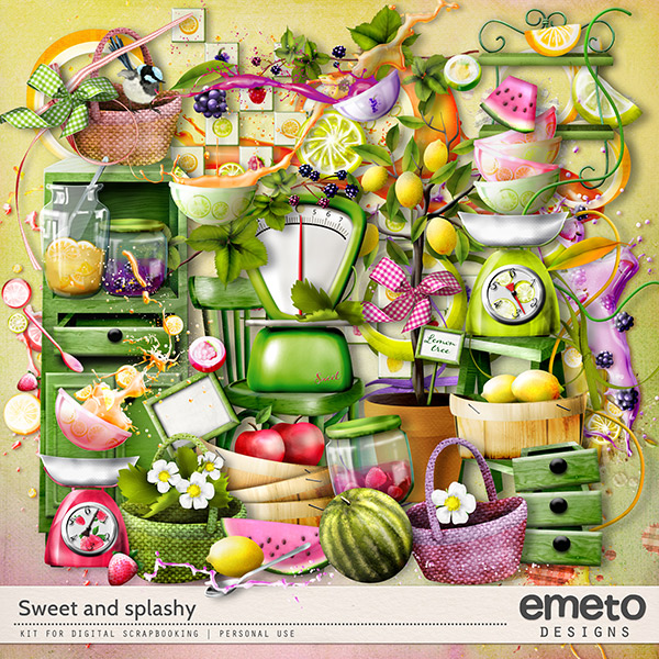 Sweet and splashy kit by emeto designs