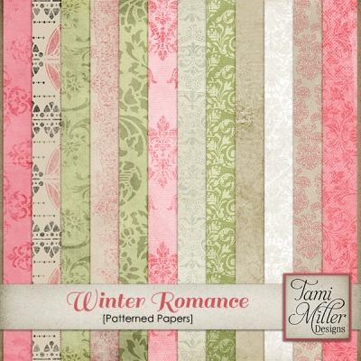 Winter Romance Papers from Tami Miller Designs