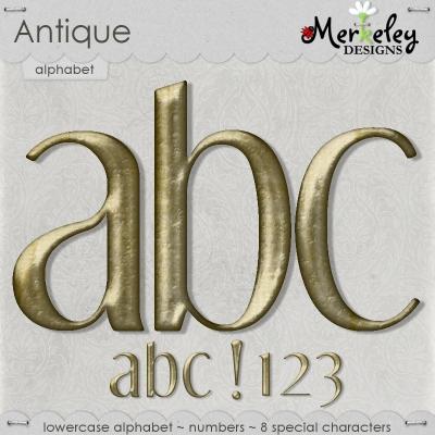 Antique Alpha from Merkeley Designs