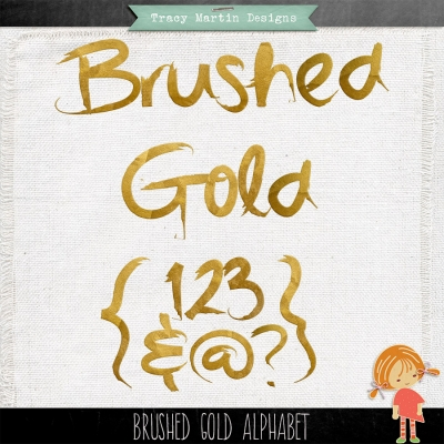 Brushed Gold Alpha from Tracy Martin Designs