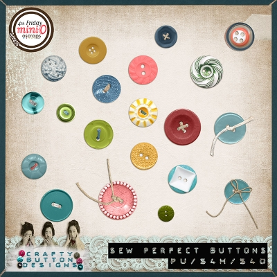 Crafty Button Designs - Sew Perfect Random Buttons