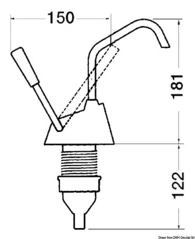 """WHALE Flipper MK4"""" hand pump"""
