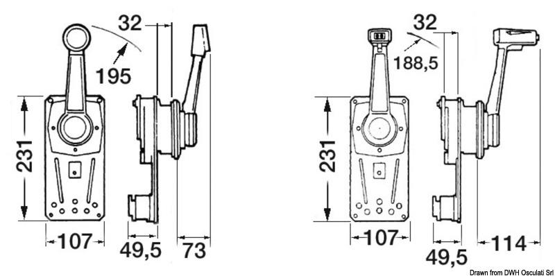 ULTRAFLEX single lever control box B183