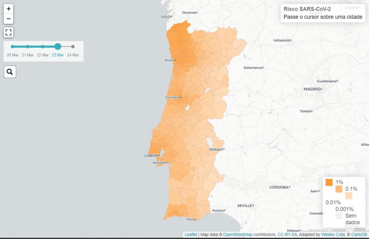 Covid 19 Investigadores Nacionais Criam Mapa De Risco De