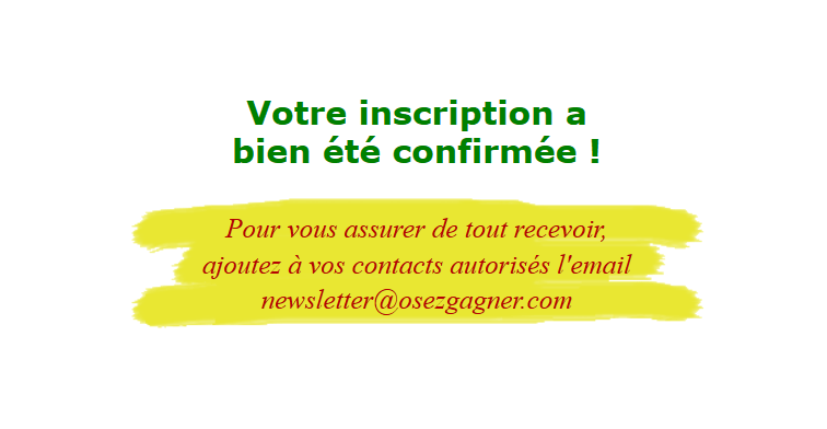 Confirmation Osezgagner.com