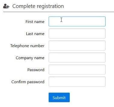 Exclaimer Trial Registration form 1