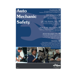 Auto Mechanic Safety Poster