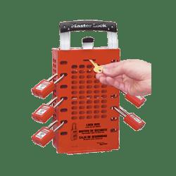 Latch Tight Red Group Lock Box