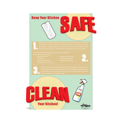 Keep Your KitchenSafe, Clean Your Kitchen Poster