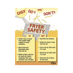 Fryer Safety Do's & Don'ts Safety Poster