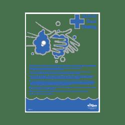 Medical Hand Washing Informational Poster