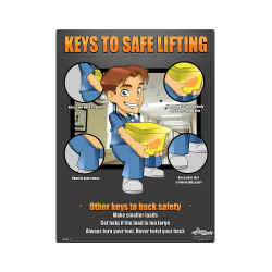 Medical Back Safety, Keys to Safe Lifting Poster