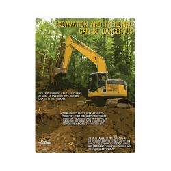 Excavation and Trenching Safety Poster