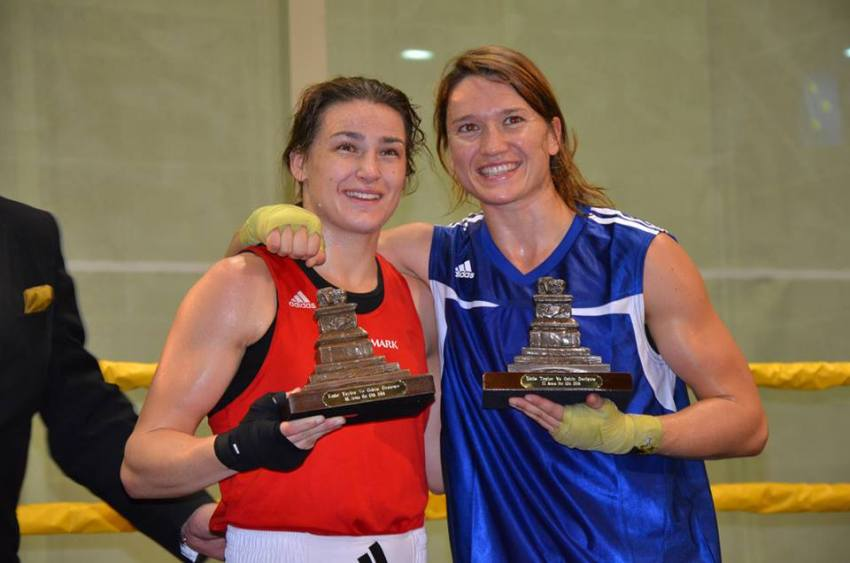 Oshin Derieuw and Katie Taylor