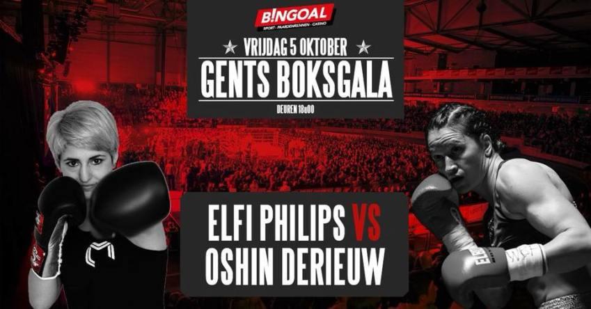 Oshin Derieuw in Gents boksgala