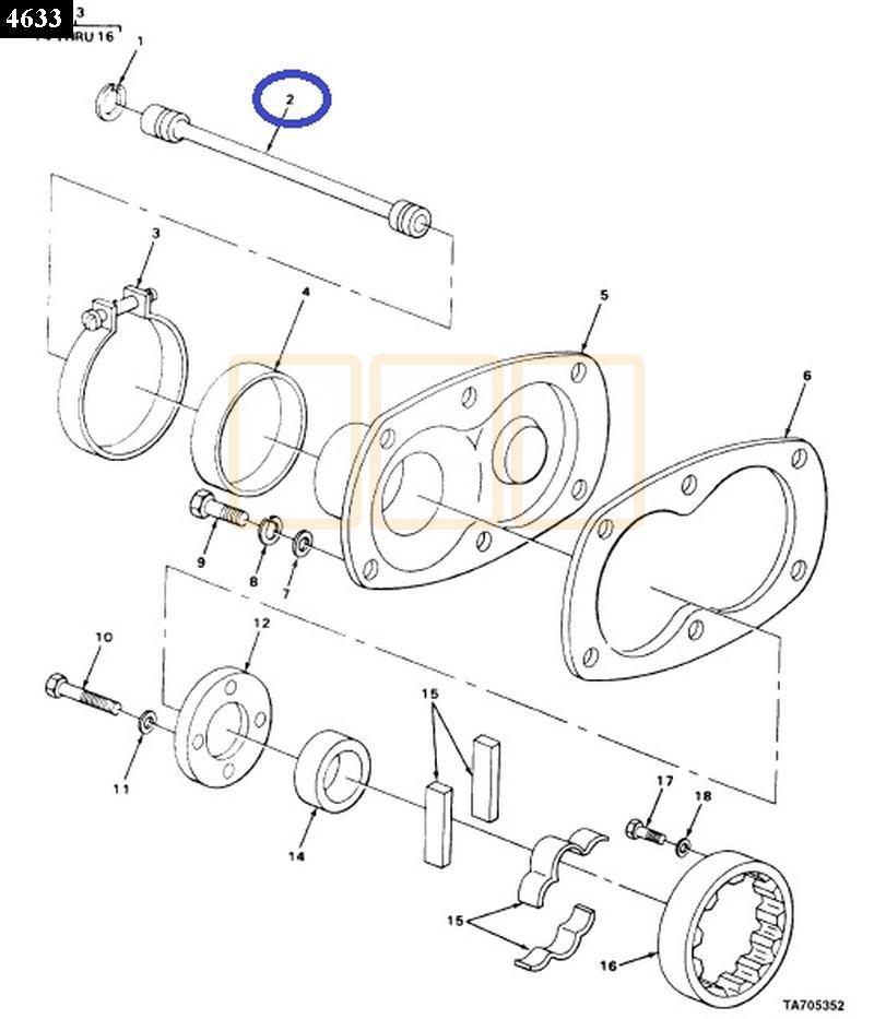 Detroit Diesel 4-53 Blower / Supercharger Splined