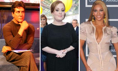 Simon Cowell, Adele, Beyonce