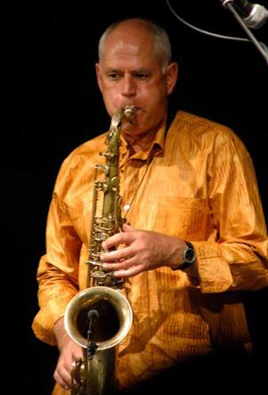 Swagato on the saxophone