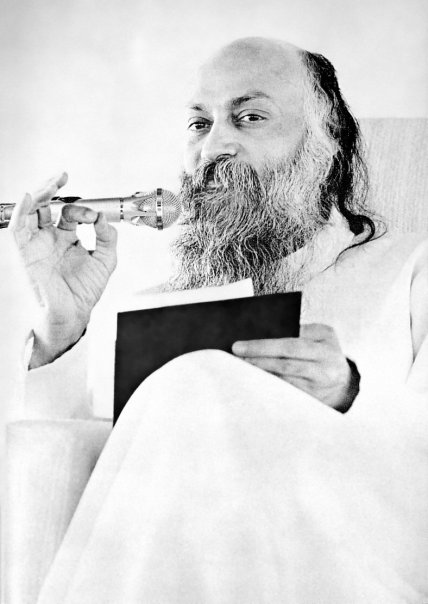 Osho giving a discourse